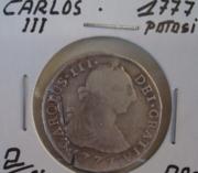 Серебрянная монета Карлос 3