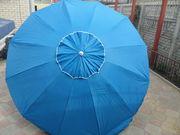 Зонт с клапаном 2м и серебренным напылением