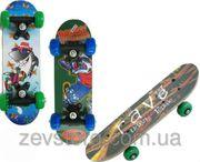 Скейтбордскейт детский мини 3 вида размер 40х15 см