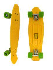 Longboard Penny желтый 28 с зелеными колесами