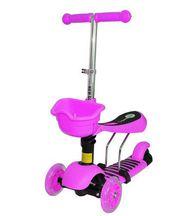 Самокат Scooter 3в1 розовый