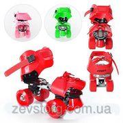 Детские раздвижные 4-колесные ролики Profi Roller размер 16-21 см,  3 ц